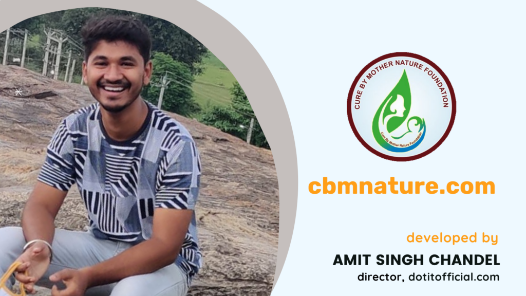 Amit Singh Chandel develops an online course selling website for Cure By Mother Nature Foundation.